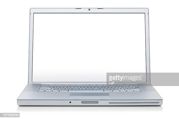 Laptop weiß desktop clipping path
