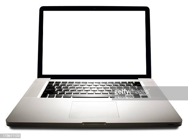 Laptop with clipping path for screen.