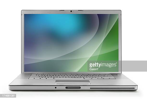 laptop with clipping path - screen saver stock photos and pictures