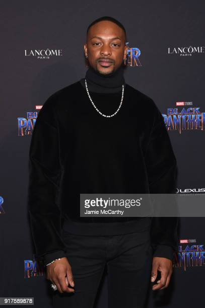 LaQuan Smith attends the Marvel Studios Black Panther Welcome to Wakanda New York Fashion Week Showcase at Industria Studios on February 12 2018 in...