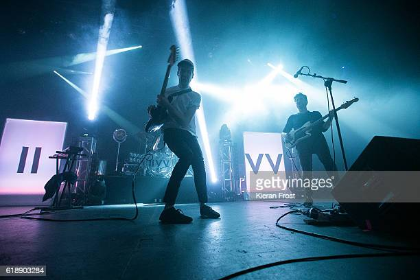 Lar Kaye and Conor Adams of All Tvvins perform at Olympia Theatre on October 28, 2016 in Dublin, Ireland.