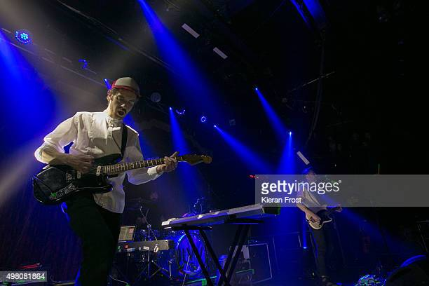 Lar Kaye and Conor Adams of All Tvvins performs at The Academy on November 20, 2015 in Dublin, Ireland.