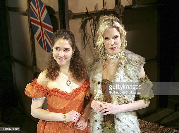 Lara AgarStoby and Alexandra Aitken during Trelawny of the Wells Press Photocall at Finborough Theatre in London Great Britain