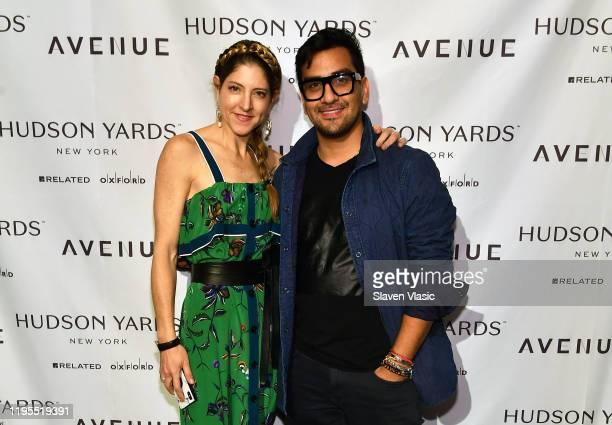Lara Alcantara and Jhoan Sebastian Grey attend relaunch of New York lifestyle magazine AVENUE at Hudson Yards on January 22 2020 in New York City