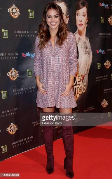 Lara Alvarez attends the 'Grandes Exitos' theatre play premiere at Rialto Theatre on January 15 2018 in Madrid Spain
