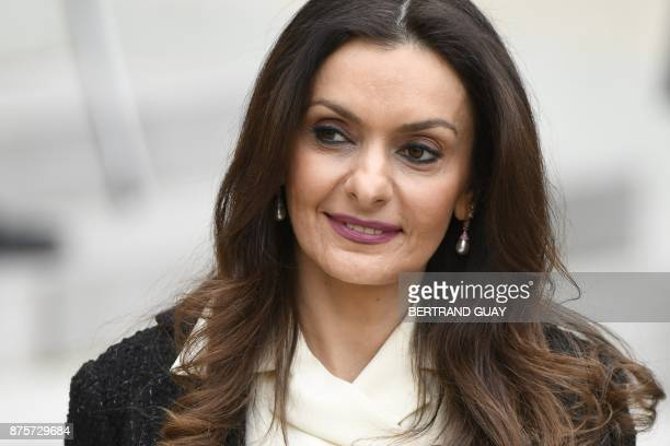 Lara Bachir ElAlzm wife of Lebanese Prime Minister leaves after meeting with French President at the Elysee Presidential Palace on November 18 2017...