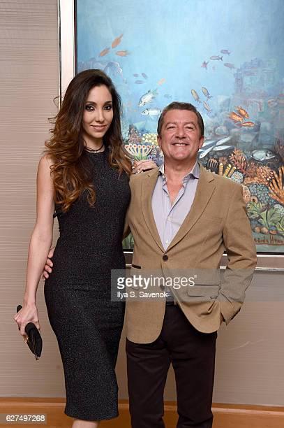 Lara Barilla Lopez and Tony Dominguez de Haro attends Underwater Dreams To Life In Color Art Exhibit Featuring Antonio Dominguez De Haro And Romero...