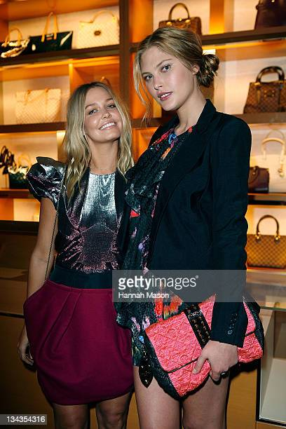 Lara Bingle and Catherine McNeil arrive for the first anniversary of the Louis Vuitton Collins Street store on October 29 2009 in Melbourne Australia