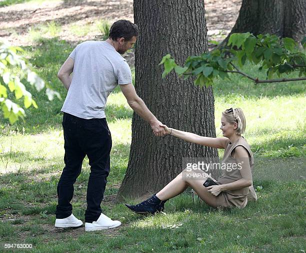Lara Bingle and Sam Worthington in New York on May 26 2016 in New York City New York
