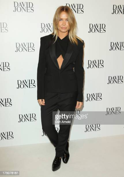 Lara Bingle arrives at the David Jones Spring/Summer 2013 Collection Launch at David Jones Elizabeth Street on July 31 2013 in Sydney Australia