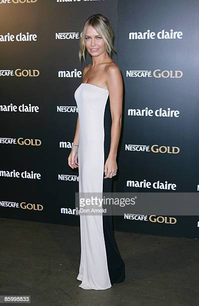 Lara Bingle arrives for the 2009 Prix de Marie Claire Awards at the Royal Hall of Industries on April 16 2009 in Sydney Australia