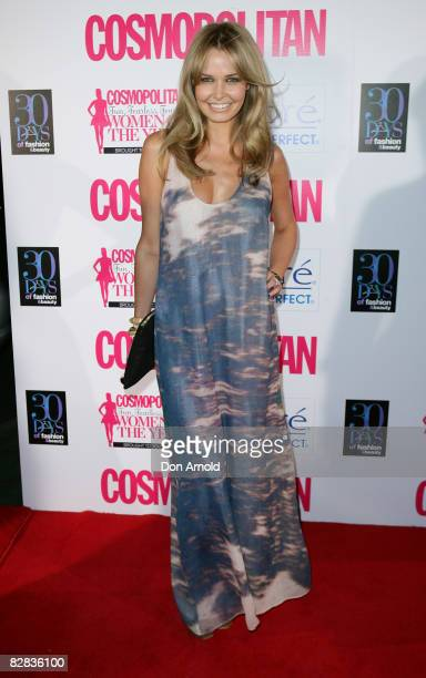 Lara Bingle arrives for the Cosmopolitan and Biore Fun, Fearless, Female Awards at Sydney Cafe on September 16, 2008 in Sydney, Australia.