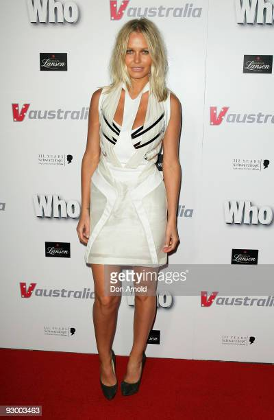Lara Bingle attends Who Magazine's Sexiest People Issue Party at Australia Square on November 12 2009 in Sydney Australia