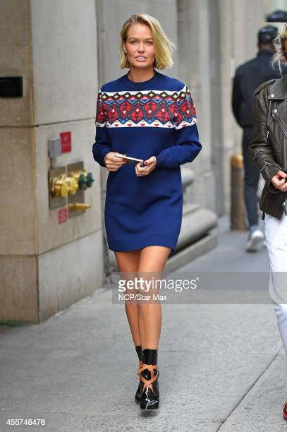 Lara Bingle is seen on September 19 2014 in New York City