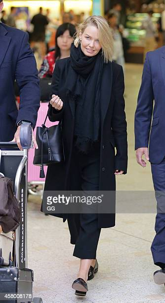 Lara Bingle is seen upon arrival at Sydney Airport on October 29 2014 in Sydney Australia