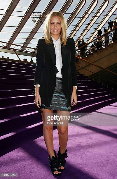 Lara Bingle poses just prior to the Dion Lee show on the fourth day of Rosemount Australian Fashion Week Spring/Summer 2010/11 offsite at the Sydney...