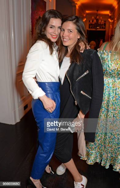 Lara Bohinc and Amanda Sheppard attend Goga Ashkenazi's celebration of the 'Sustainable Surf' collaboration with Marc Quinn with dinner at her London...