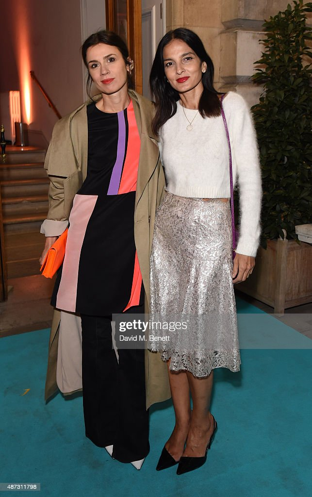 Lara Bohinc (L) and Yasmin Mills attend the launch of the Academicians' Room private members club in The Keeper's House at The Royal Academy of Arts on September 8, 2015 in London, England.