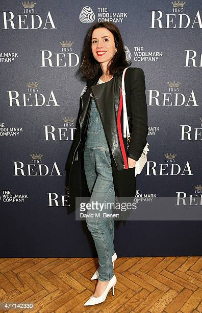 Lara Bohinc attends the cocktail party for REDA in collaboration with The Woolmark Company and Magnum celebrating 150 years, at One Marylebone on...