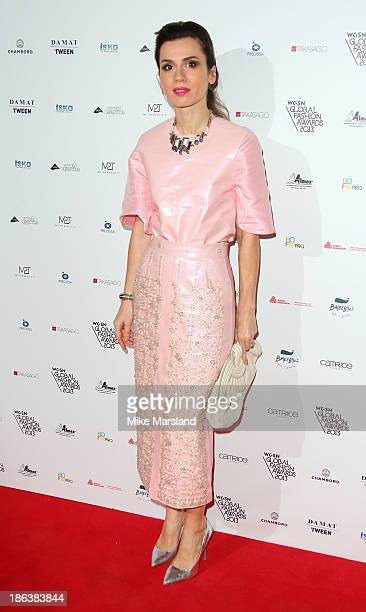 Lara Bohinc attends the WGSN Global Fahsion awards at Victoria Albert Museum on October 30 2013 in London England