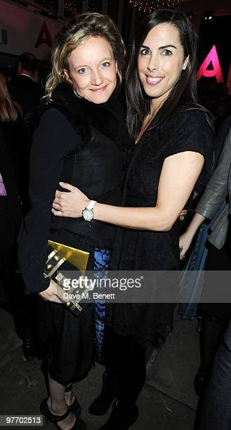 Lara Cazalet and Jessica de Rothschild attend the Almeida 2010 Fundraising Gala at the Almeida Theatre on March 14 2010 in London England
