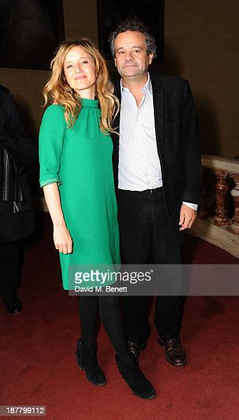 Lara Cazalet and Mark Hix attends an after party celebrating the press night performance of 'Perfect Nonsense' at the The Royal Horseguards on...