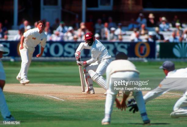 Lara ct Stewart bowled Gough 54, England v West Indies, 2nd Test, Lord's, Jun 95.