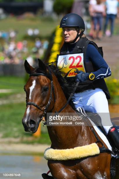Lara de LiedekerkeMeier of Belgium riding Ducati van den Overdam during the obstacle in the water of the Cross Country test DHLPrize in the park of...