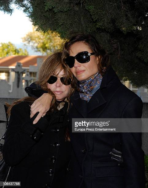 Lara Dibildos and Juncal Rivero attend the funeral for Carla Duval sister of vedette Norma Duval at San Isidro Cementery on November 1 2010 in Madrid...