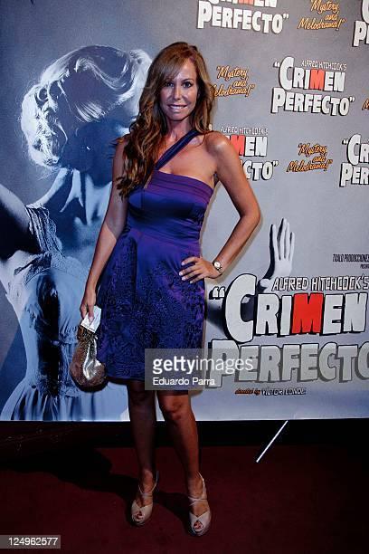 Lara Dibildos attends the Crimen Perfecto premiere photocall at Reina Victoria theatre on September 14 2011 in Madrid Spain