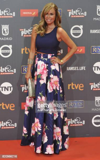 Lara Dibildos attends the 'Platino Awards 2017' photocall at La Caja Magica on July 22 2017 in Madrid Spain