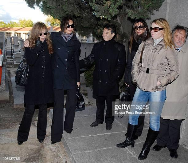 Lara Dibildos Juncal Rivero Enrique Cornejo Laura del Sol and Cristina Goyanes attend the funeral for Carla Duval sister of vedette Norma Duval at...
