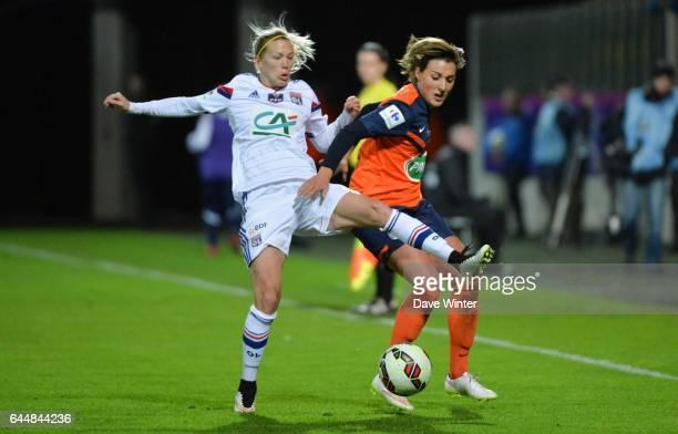 Lara DICKENMANN / Claire LAVOGEZ Montpellier / Lyon Finale Coupe de France Calais Photo Dave Winter / Icon Sport