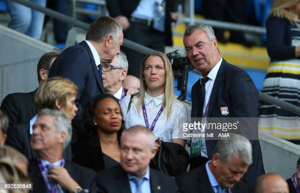 Lara Dickenmann during the UEFA Women's Champions League Final match between Lyon and Paris Saint Germain at Cardiff City Stadium on June 1, 2017 in...