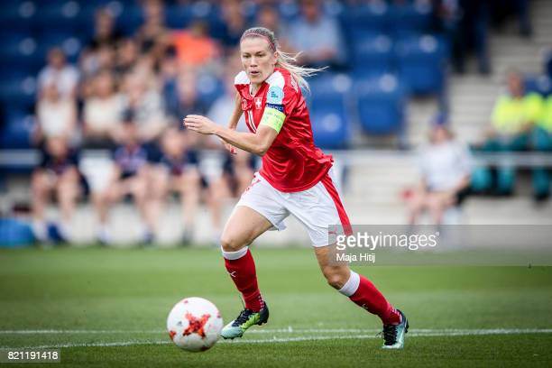 Lara Dickenmann of Switzerland controls the ball during the UEFA Women's Euro 2017 Group C match between Iceland and Switzerland at Stadion De...