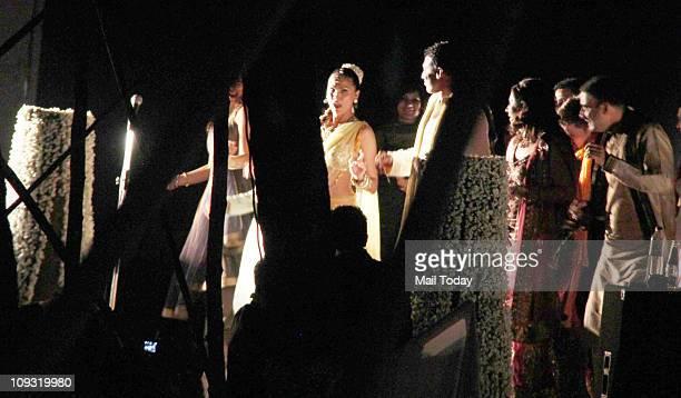 Lara Dutta and Mahesh Bhupati during their sangeet ceremony at Club Fresh Goa
