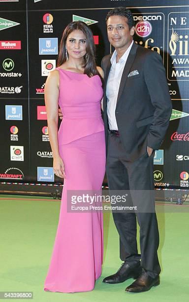 Lara Dutta attend IIFA Awards green carpet during the 17th edition of IIFA Awards the International Indian Film Academy Awards at Ifema on June 25...