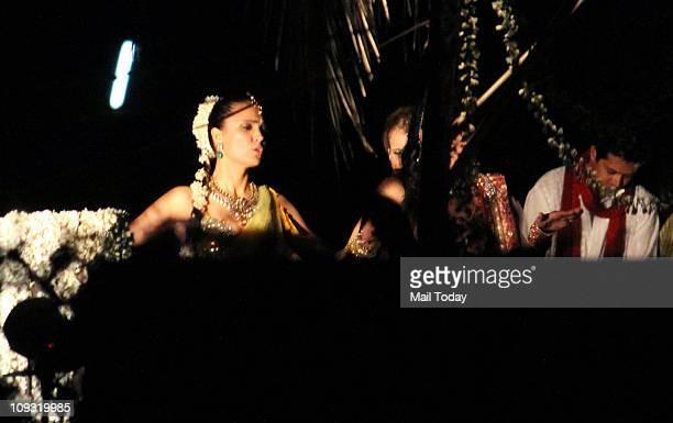 Lara Dutta during her sangeet ceremony at Club Fresh Goa