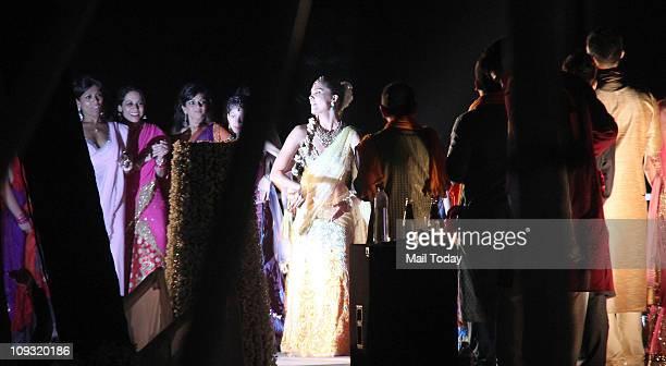 Lara Dutta during hersangeet ceremony at Club Fresh Goa
