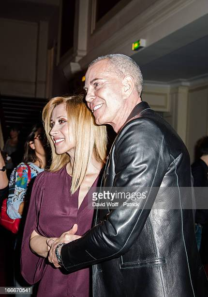 Lara Fabian and Jean Claude Jitrois attend the Lara Fabian concert at Theatre de Paris on April 15 2013 in Paris France