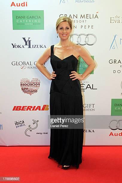 Lara Fabian attends the Global Gift Gala 2013 red carpet at Gran Melia Don pepe Resort on August 4 2013 in Marbella Spain