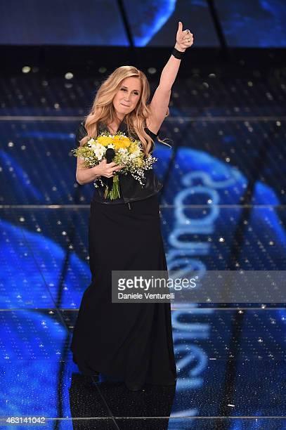 Lara Fabian attends the opening night of the 65th Festival di Sanremo 2015 at Teatro Ariston on February 10 2015 in Sanremo Italy