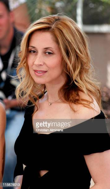 Lara Fabian during 2004 Cannes Film Festival De Lovely Photocall in Cannes France
