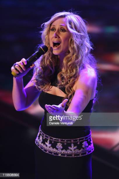 Lara Fabian during 57th San Remo Music Festival Day 4 in Sanremo Italy