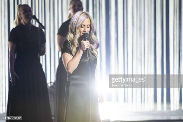 Lara Fabian performs at Dolby Theatre on September 23, 2019 in Hollywood, California.