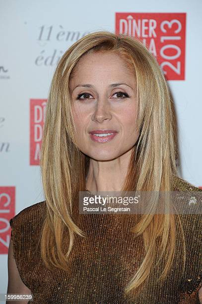 Lara Fabian poses as she arrives to attend the Sidaction Gala Dinner 2013 at Pavillon d'Armenonville on January 24 2013 in Paris France