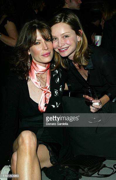 Lara Flynn Boyle and Calista Flockhart during Book Launch for Gigi Grazer's man eater at Private Residence in Los Angeles California United States