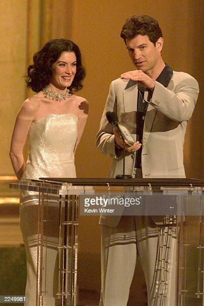 Lara Flynn Boyle and Chris Issac were presenters at the 7th Annual Blockbuster Awards held at the Shrine Auditorium in Los Angeles Ca 4/10/01 Photo...
