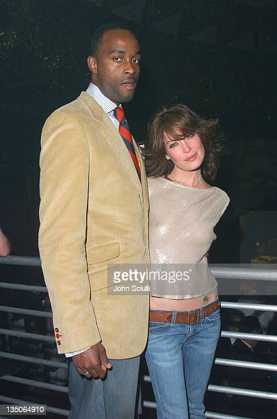 Lara Flynn Boyle and guest during Playstation 2 Offers A Passage Into 'The Underworld' Inside at Belasco Theater in Los Angeles California United...