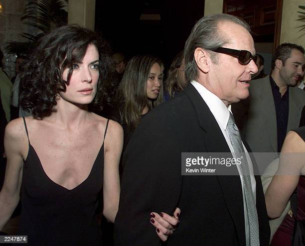 Lara Flynn Boyle and Jack Nicholson at the postpremiere party for 'The Pledge' at The Sunset Room in Los Angeles Ca 01/09/01